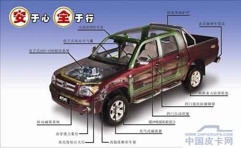 首先,中兴威虎g3皮卡的柴油发动机拥有纯正的五十铃进口组装动力,配