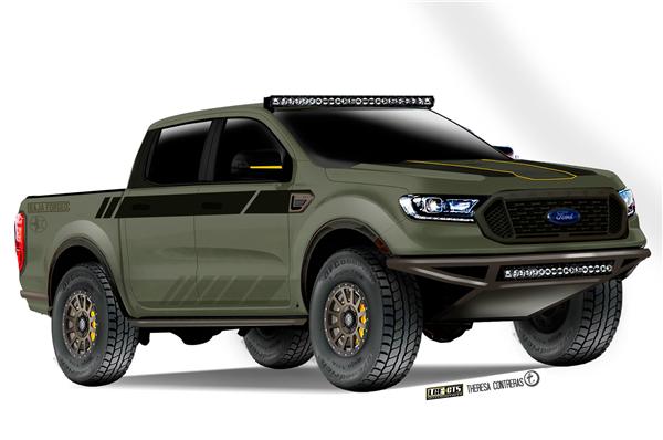 7款福特定制Ranger改装皮卡前往SEMA改装车展