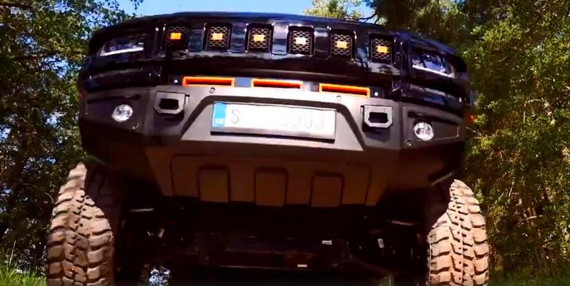 Burecko推6.2米6X6大皮卡    基于索罗德最高1200马力排量7.0L