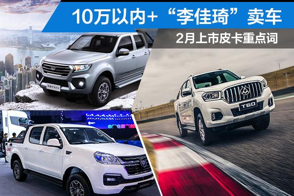 """2月上市皮卡重點詞 10萬以內+""""李佳琦""""賣車"""