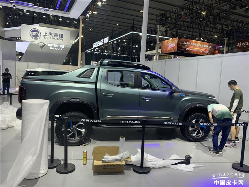 长城救援炮、上汽NEW EV版吸睛 2020广州车展皮卡探馆