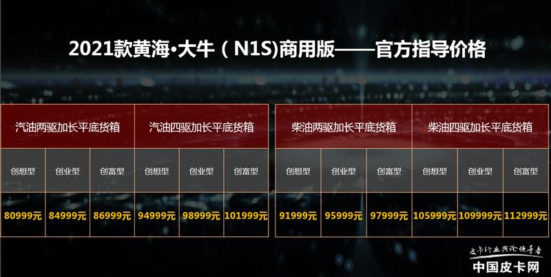 5.9999万元起售 黄海三款新品皮卡犇腾上市