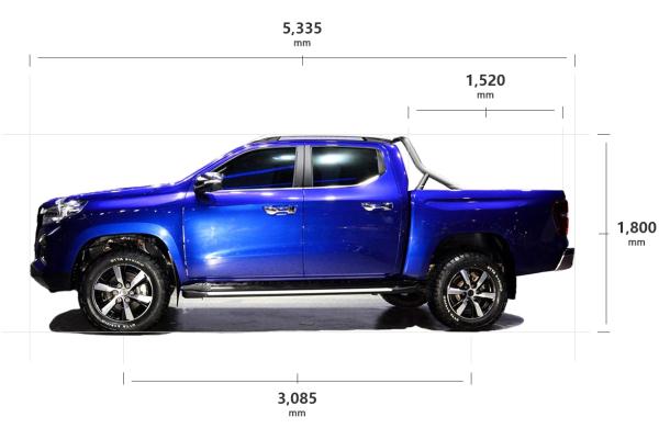 国产皮卡车身尺寸大盘点:更宽 更大 更强